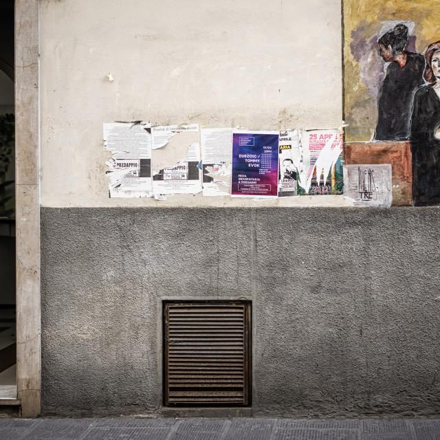 """Urban Street Art, Florence, Via dei Macci,"" stock image"