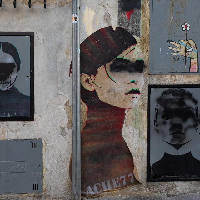 """Urban Street Art, Via dei Sapiti, Florence"" stock image"
