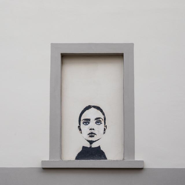 """Urban Street Art, Via Giacomo Zanella, Florence"" stock image"