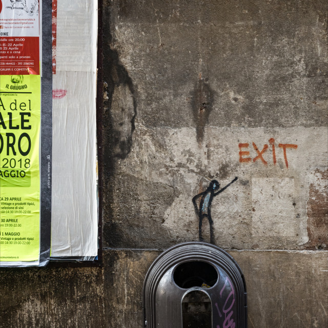 """Urban Street Art, Via del Parione, Florence"" stock image"