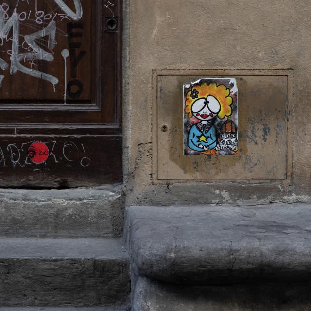 """Urban Street Art, Via dei Benci, Florence"" stock image"