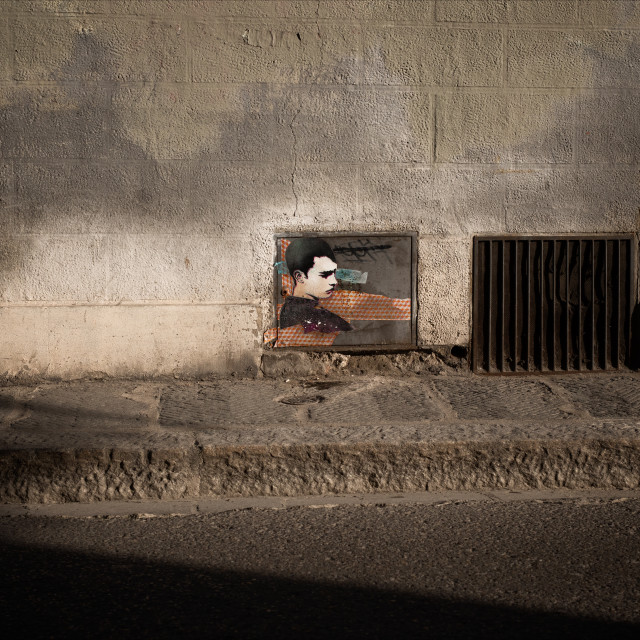 """Urban Street Art, Via del Castellaccio, Florence"" stock image"