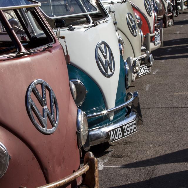 """""""Camper Van line-up"""" stock image"""