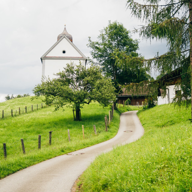 """""""Winding Road To German Town"""" stock image"""