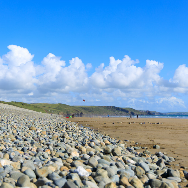 """Newgale Beach"" stock image"