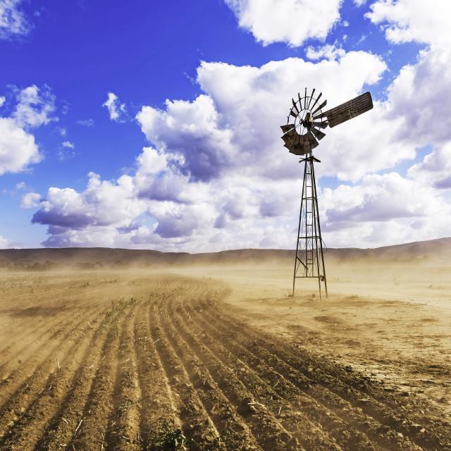 """Windmill & Dust"" stock image"