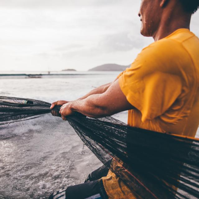 """Net Fisherman"" stock image"