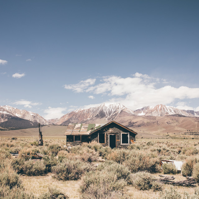"""Abandoned house Death Valley"" stock image"