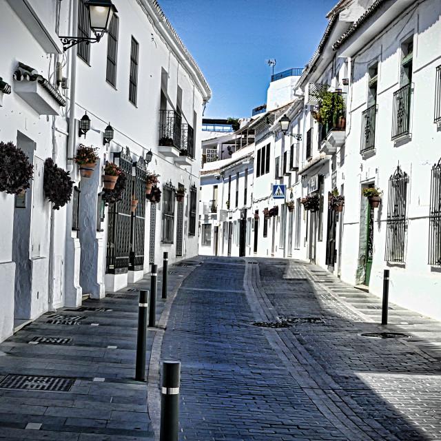"""""""Street - Mijas Spain"""" stock image"""