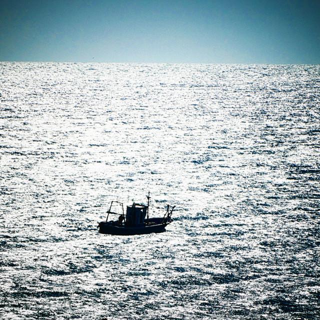 """Fishing Boat Carvajal Spain"" stock image"