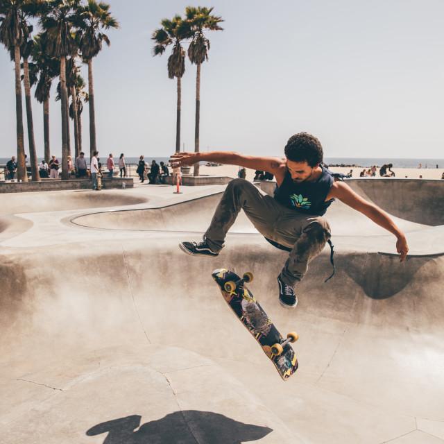 """Venice beach Skateboarder"" stock image"