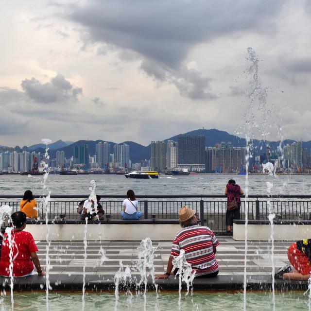 """Sun Yat Sen Memorial Park, Hong Kong"" stock image"