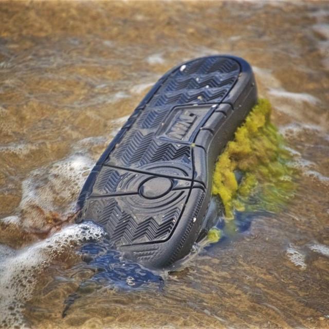 """""""Washed Up Cargo Shoe #2"""" stock image"""