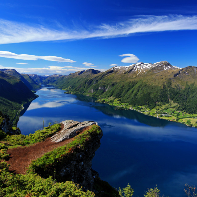 """Dalsfjord, Norway"" stock image"