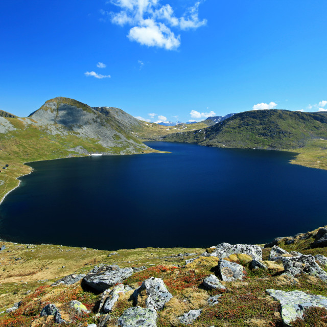 """Lake Myrkevatnet"" stock image"
