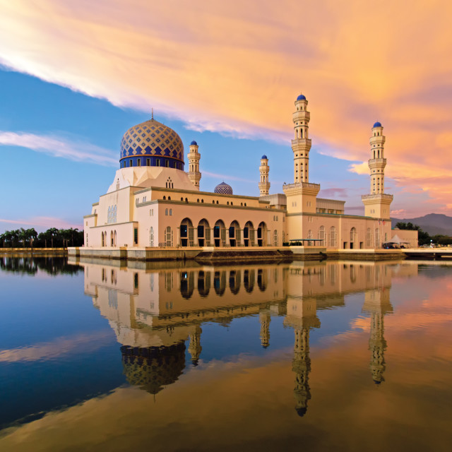 """Kota Kinabalu Mosque Kota Kinabalu, Sabah Borneo, Malaysia."" stock image"