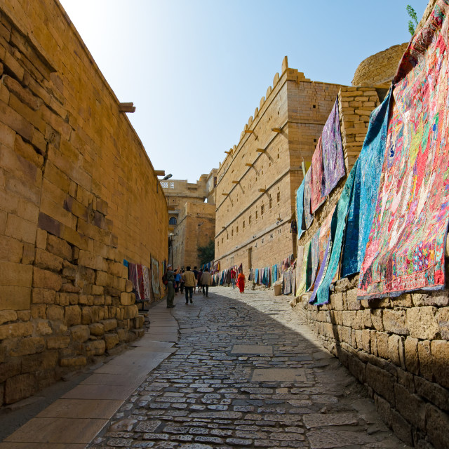 """""""Inside the Jaisalmer fort in Rajasthan, India."""" stock image"""