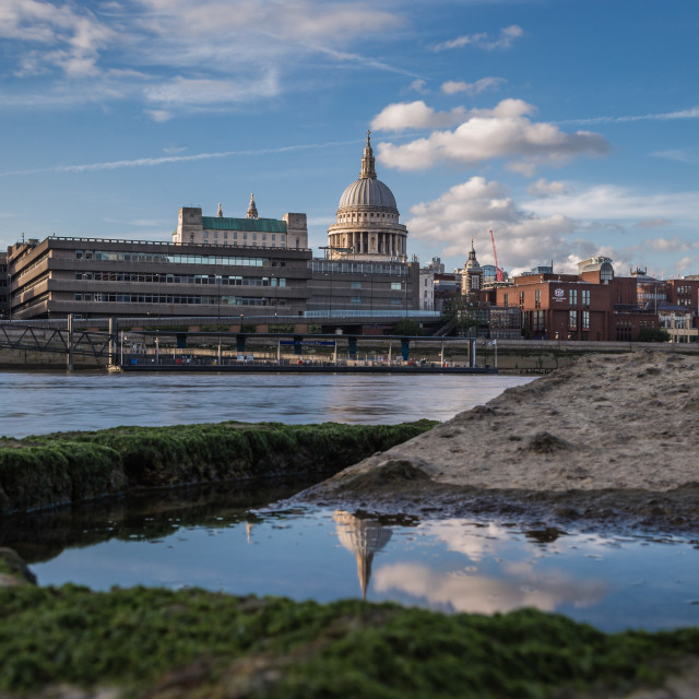"""St. Paul's Reflected."" stock image"