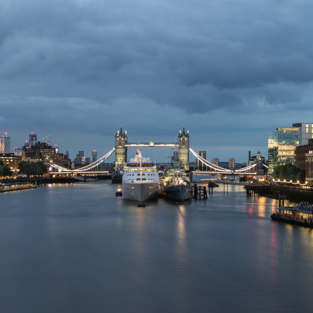 """Dusk On The Thames"" stock image"