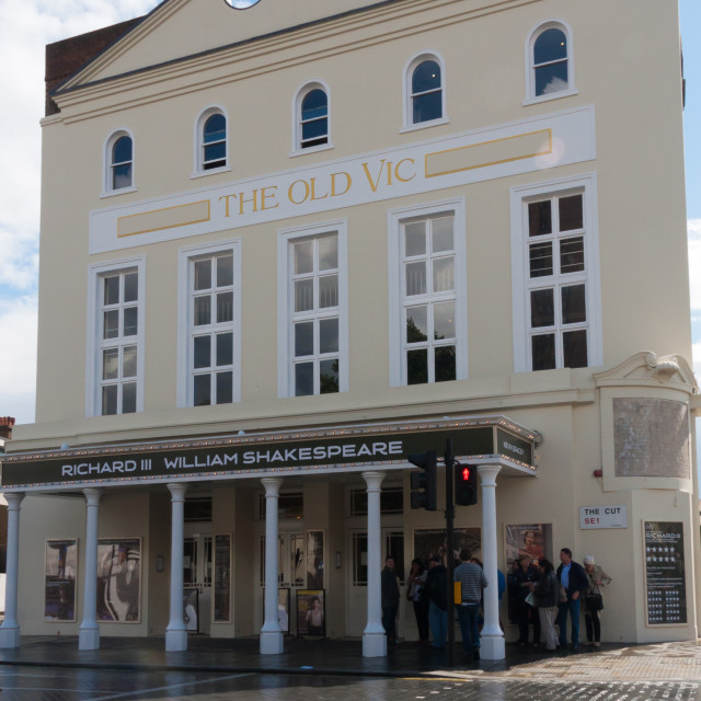 """""""The Old Vic Theatre, The Cut, Waterloo, London, England, United Kingdom"""" stock image"""