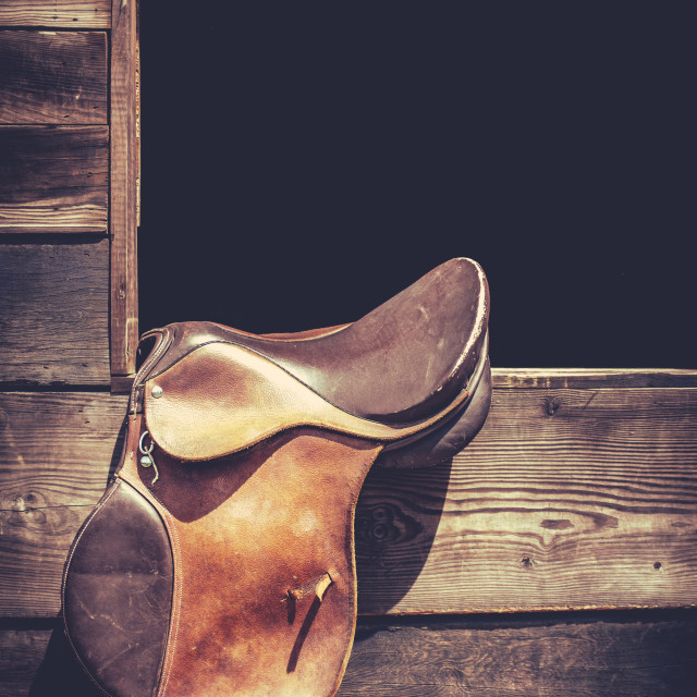 """Americana Saddle And Stable"" stock image"