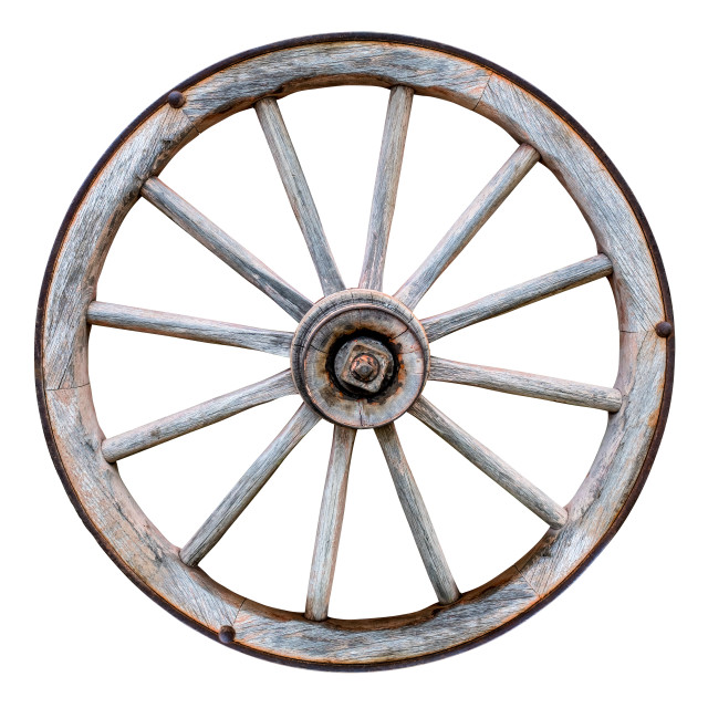 """Isolated Wagon Wheel"" stock image"