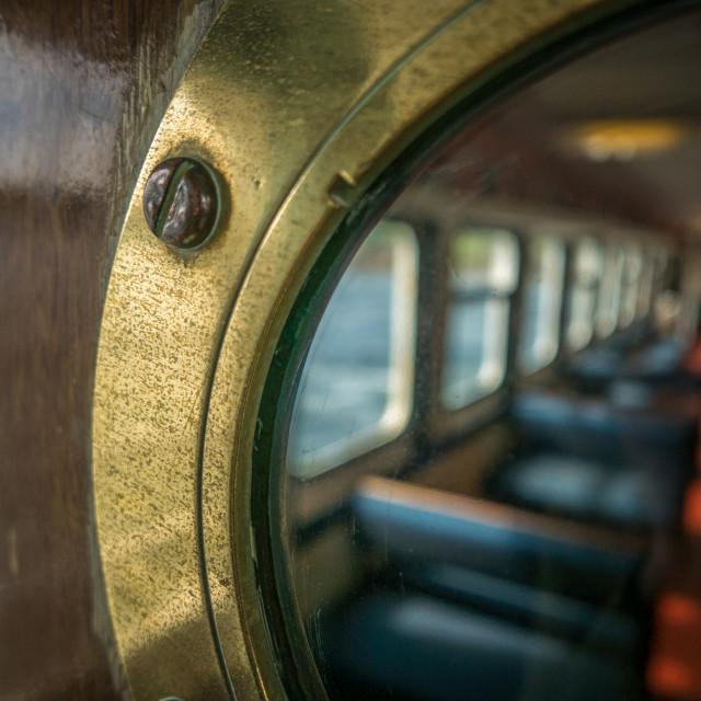 """""""Passenger Ferry Porthole"""" stock image"""