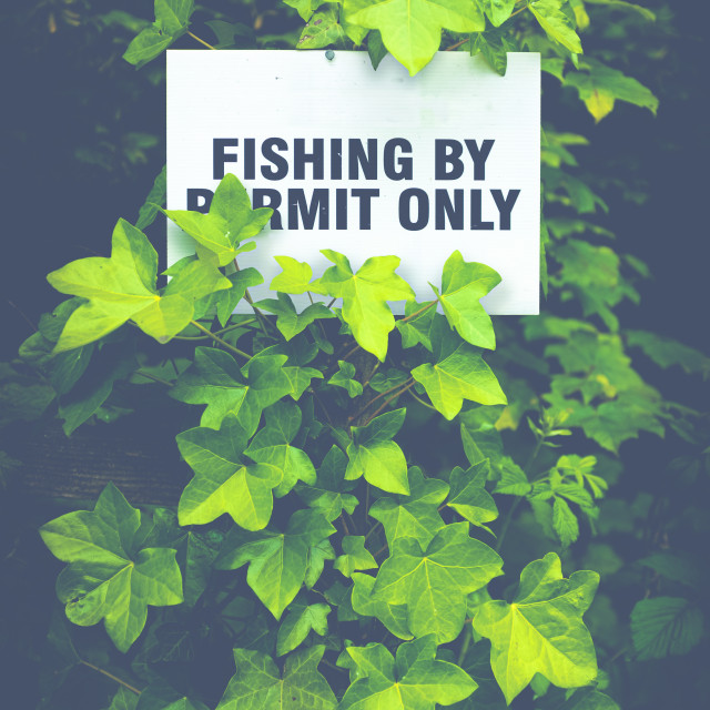 """Scottish Fishing By Permit Only Sign"" stock image"