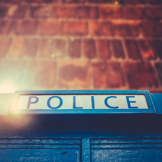 """British Police Box"" stock image"