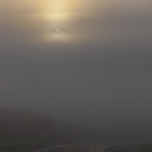 """misty road"" stock image"
