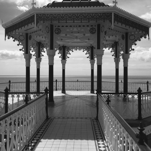 """Brighton band stand"" stock image"