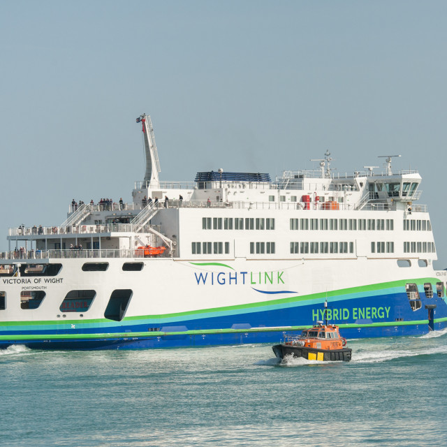 """hybrid energy ferry"" stock image"