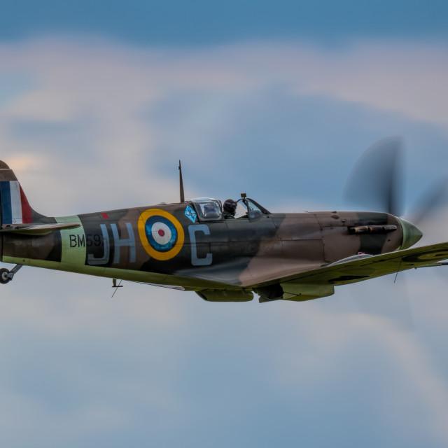 """Spitfire MkVb BM597"" stock image"