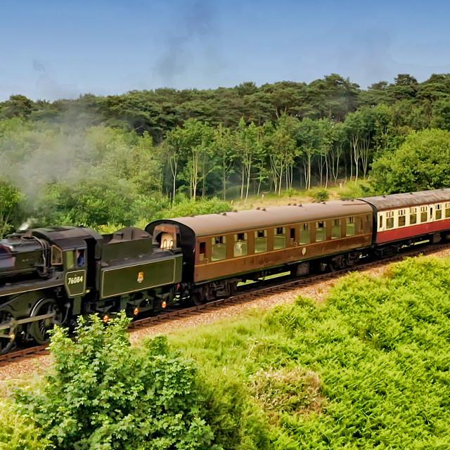 """""""Poppy Line Trains Sheringham"""" stock image"""