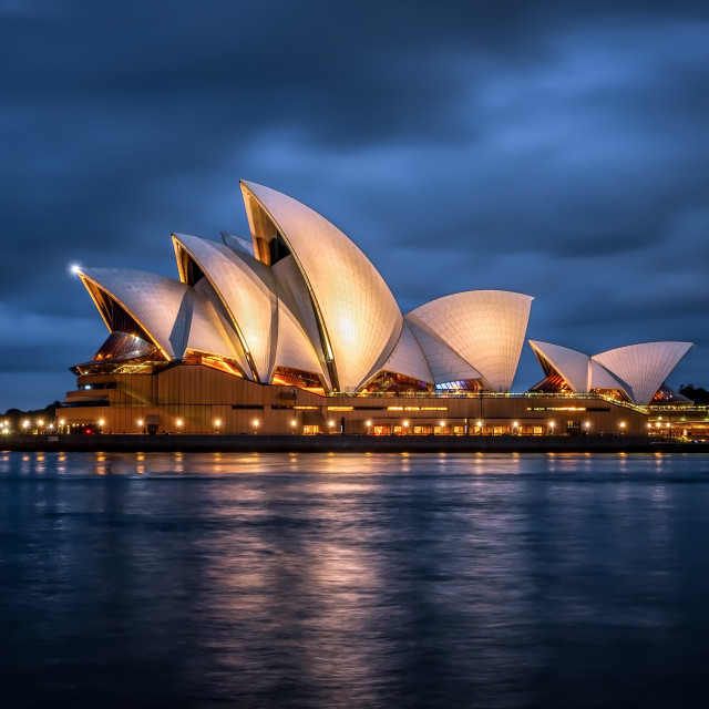 """The Opera House at Blue Hour"" stock image"