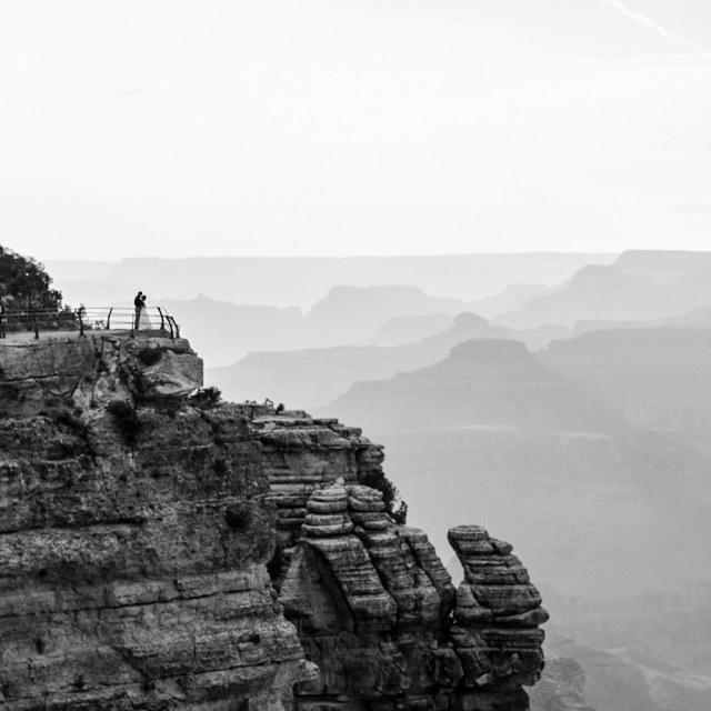 """Grand Canyon wedding"" stock image"