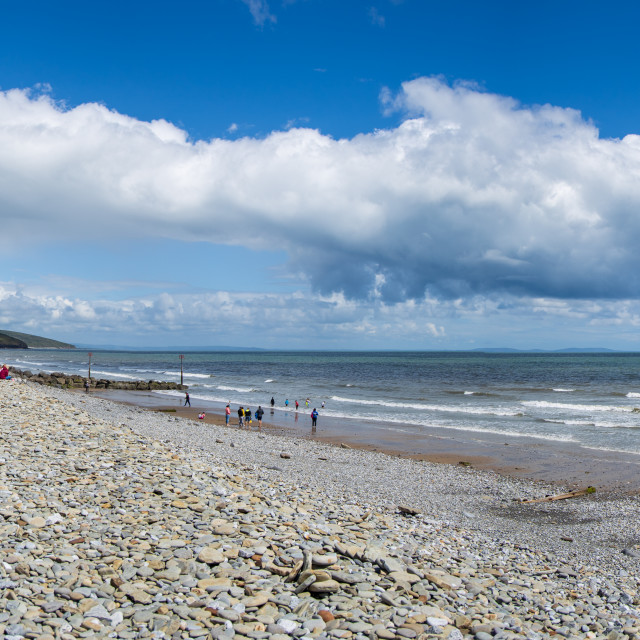 """Amroth Beach Panoramic"" stock image"