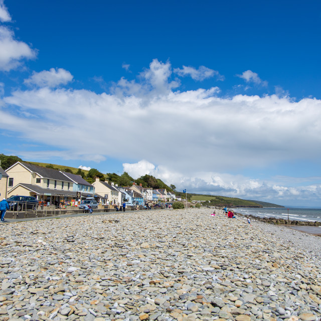 """Amroth Beach"" stock image"