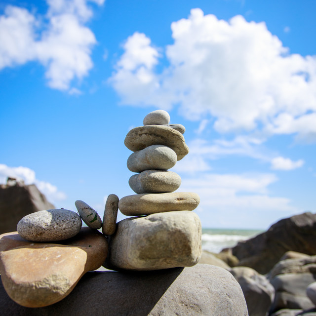 """Rock Balancing"" stock image"