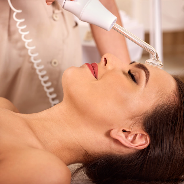 """Facial treatment procedures darsenval"" stock image"
