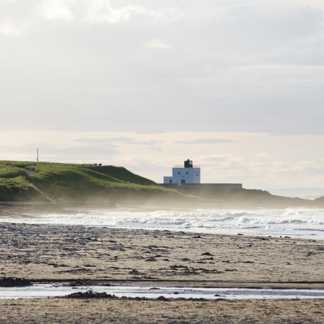"""""""Bamburgh Lighthouse"""" stock image"""
