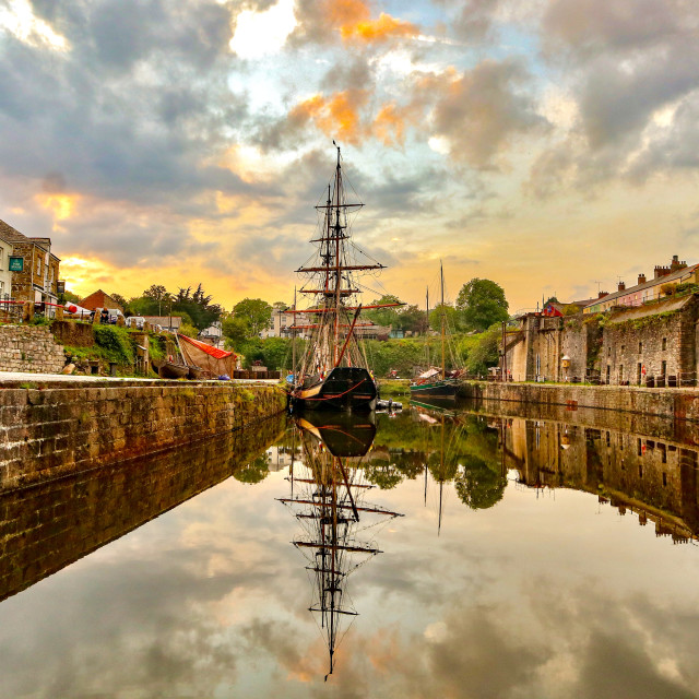 """Charlestown Sunset"" stock image"