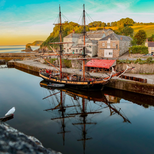 """Charlestown Sunrise"" stock image"