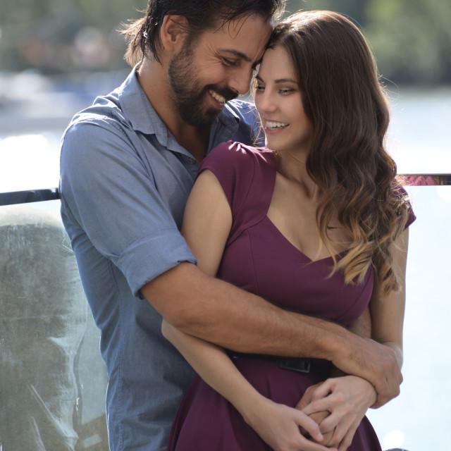 """Couple Riverside"" stock image"