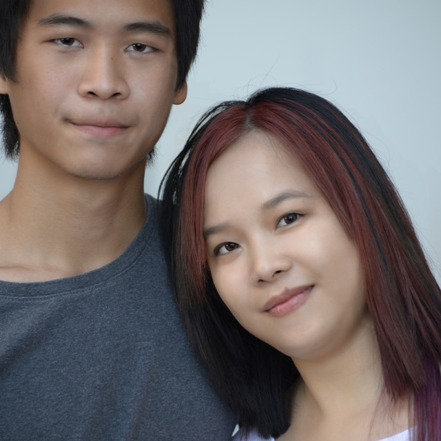 """Young Asian Couple"" stock image"