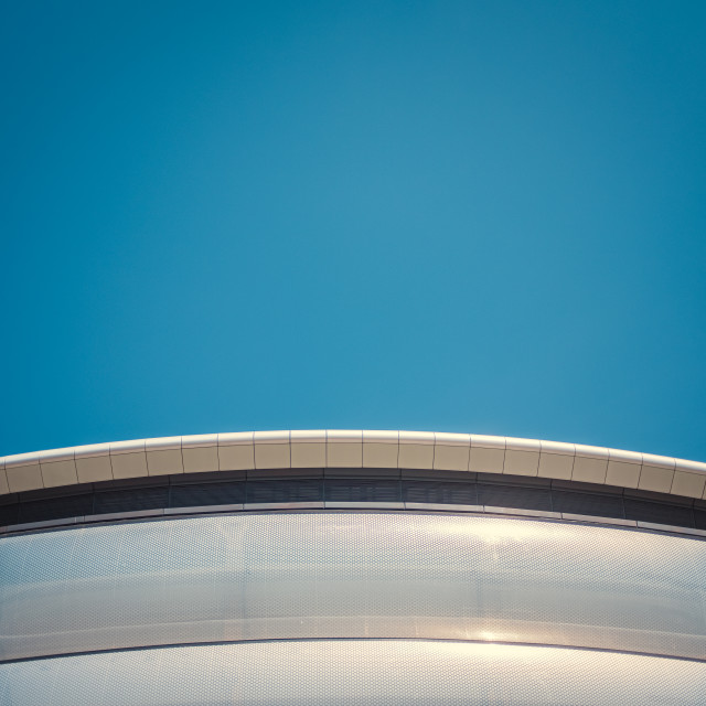 """Abstract Curved Architecture Detail"" stock image"