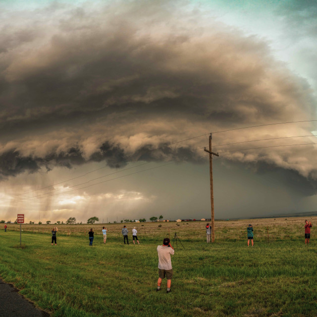 """""""Storm chasing in New Mexico"""" stock image"""