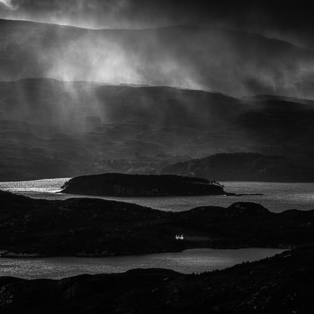 """Drama in Torridon"" stock image"