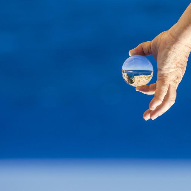 """Lensball photography"" stock image"