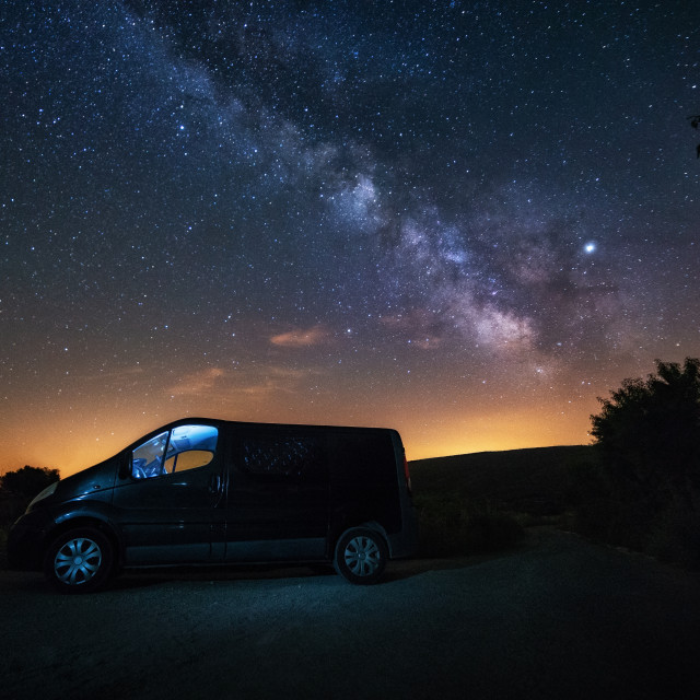 """Under the milky way"" stock image"